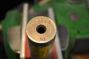 "Barrel makers mark relevant information on the chamber end of the barrel blank. In this case ""Shilen"" is the manufacturer, ""308″ is the bore diameter, ""6″ is the contour, ""S""denotes stainless steel and ""10″ is the rate of twist (1:10)."