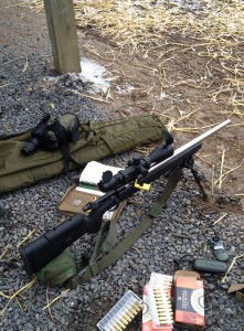 Our custom Remington 700 on the firing line.