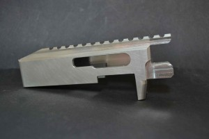 Here is our 80% RAZOR receiver as supplied by Select Fire LLC.  This is milled from a billet of 6061-T6 aluminum.
