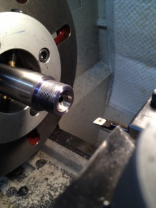 "The BHI action requires a .720 diameter bolt nose recess (we normally cut a .705"" on a standard Remington action).  The recess is cut with a high speed steel boring bar."