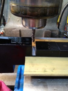 "A 1/4"" end mill and a little bit of aluminum cutting fluid make short work of deepening the lug cut."