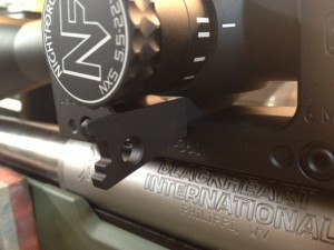 The wedge then runs against the bottom of the scope, guaranteeing the scope is perfectly level.