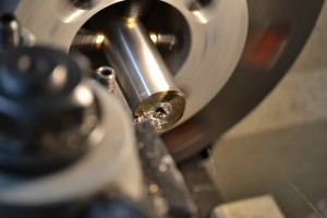 An initial squaring cut is made.