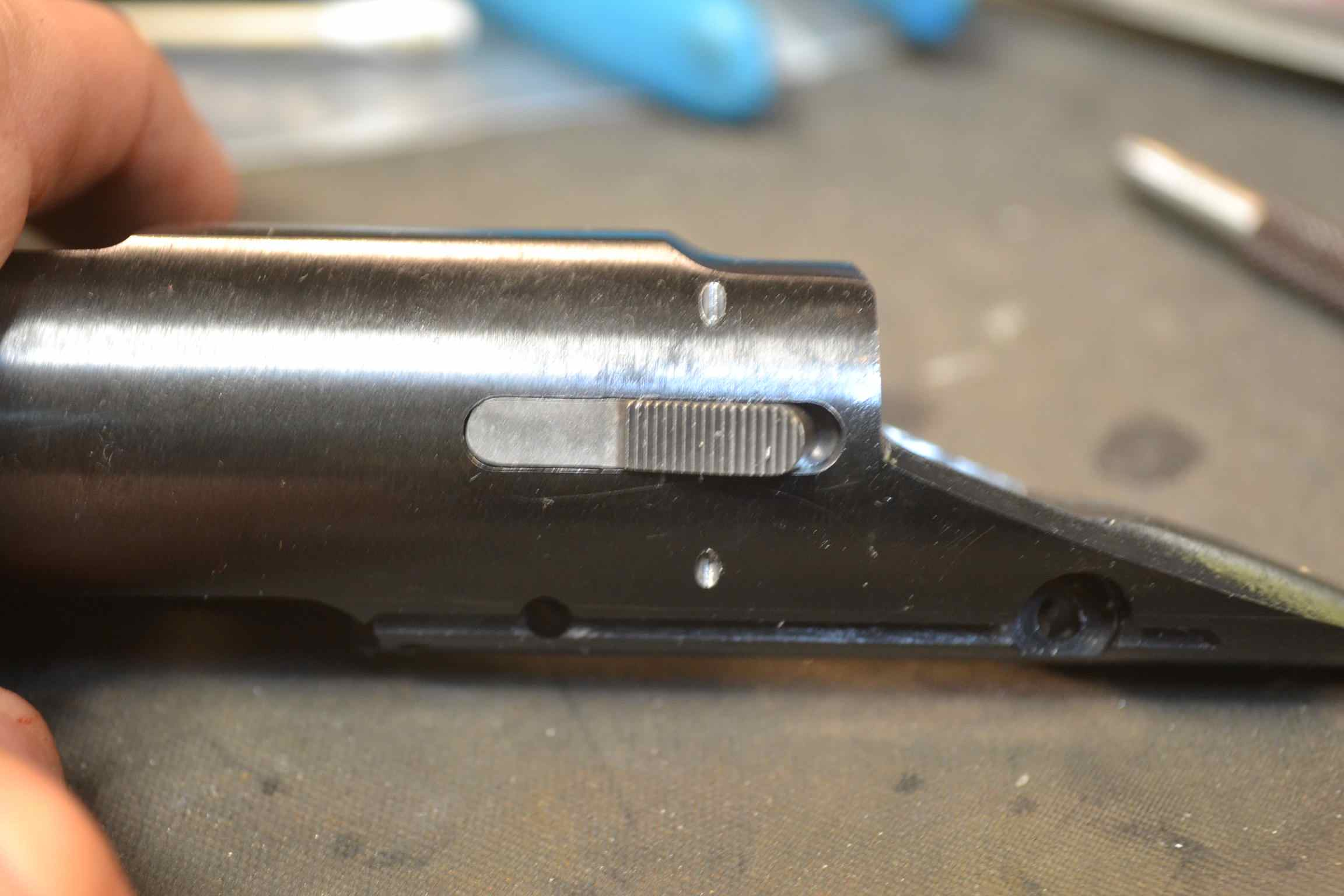 External Remington 700 bolt stop- no step cut installation- method 2