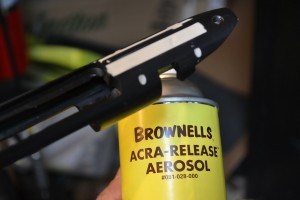 All metal surfaces are coated with release agent.  We like Acra-Release in a spray can.  voids are then filled with modeling clay.