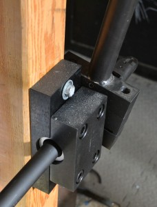 The barrel is secured in a Brownells barrel vise with aluminum shims.