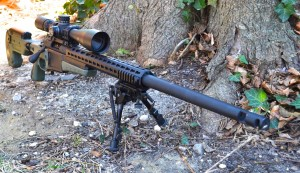 Customized Remington 700 chambered in 243 Winchester. The AICS-AX 2.0 chassis system provides a rock solid base for this gun.