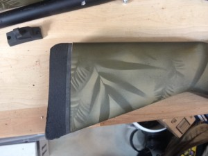 I rounded off the top edge of the recoil pad.  This allows the shotgun to be quickly shouldered without snagging on clothing.  Note how well the lines of the recoil pad match the stock.