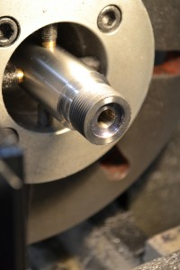 Since the tenon's shoulder was set back, the bolt nose recess is now too shallow.