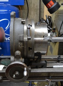 "I am using a 10"" rotary table equipped with a 3-jaw chuck to index the barrel."