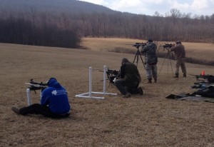 Students work through a variety of barricade shooting positions.