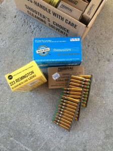 The 223 Remington and 5.56mm Nato ammunition used for the test.