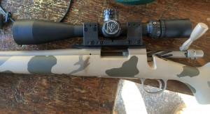 This is the test rifle.  It is a factory Remington 700  varmint chambered in 223 Remington.