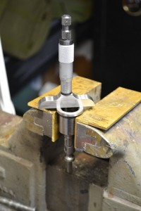 I measure the distance from the front of the barrel extension to the front edge of the bolt and to the bolt face in order to determine the size of the barrel extension tenon.