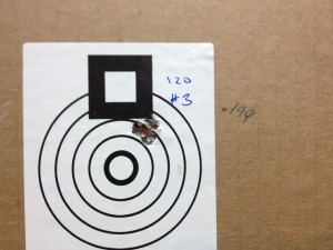 "Here is a 5-shot, 100 yard group.  .199""!"
