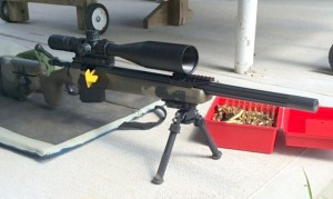 The Atlas bipod shown here requires a 1913 rail in order for it to be attached to a rifle.