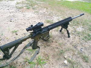 6.5 PCC rifle as tested.