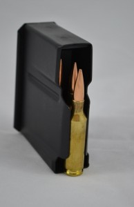 The magazine has ample space for specially throated chambers and longer bullets.