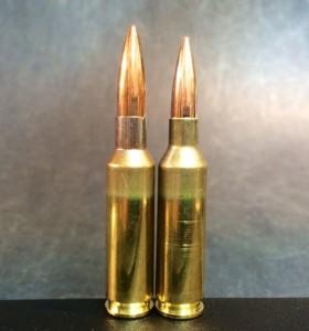 6.5x47 Lapua (left) and 6x47 Lapua (right).