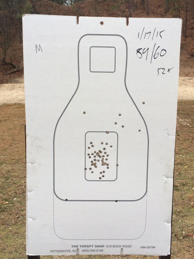 Here is my final target.  59/60.  I dropped the one round to the upper right.