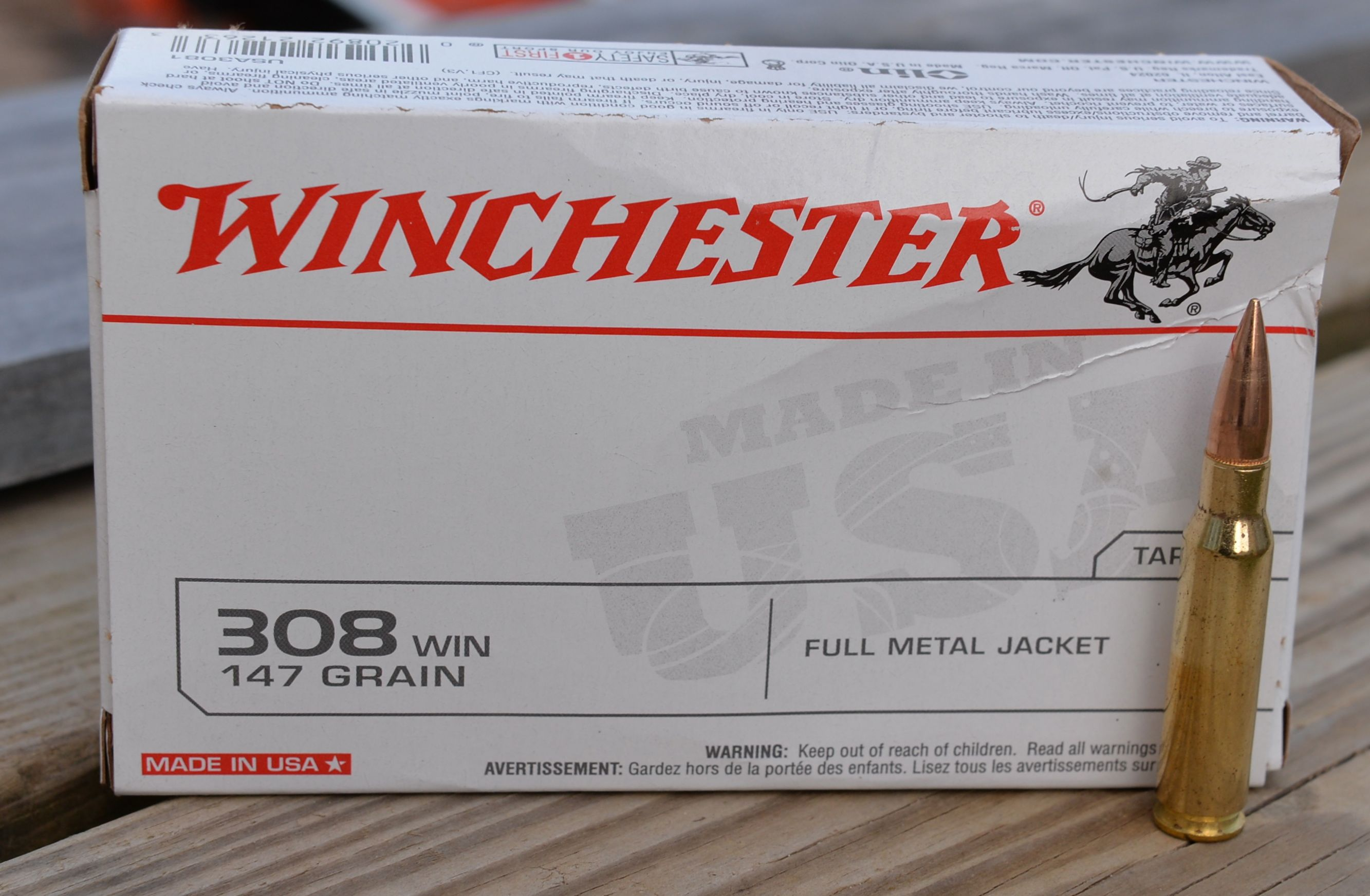 308 Winchester Barrel Length and Velocity: Winchester 147 grain FMJ