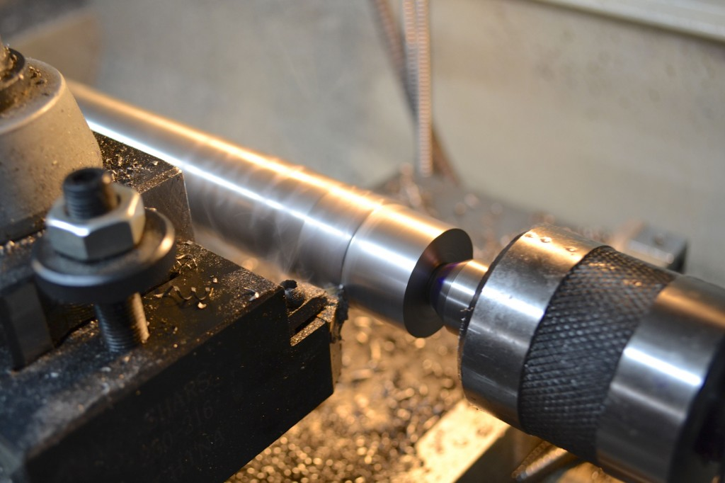 Turning the shank is a quick operation.  It is far easier than turning the taper.