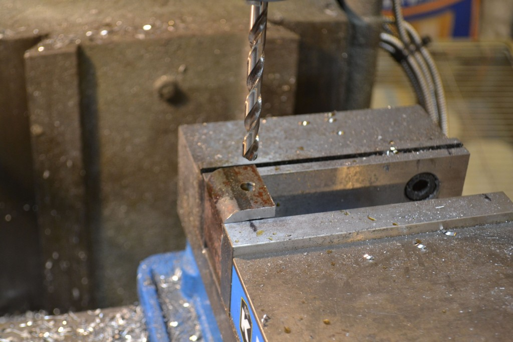 drilling tap hole in c holder