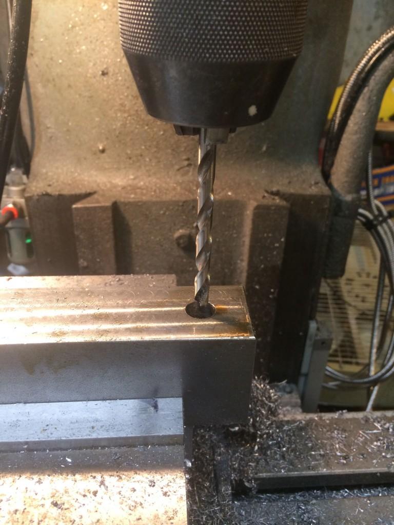 drilling through holes