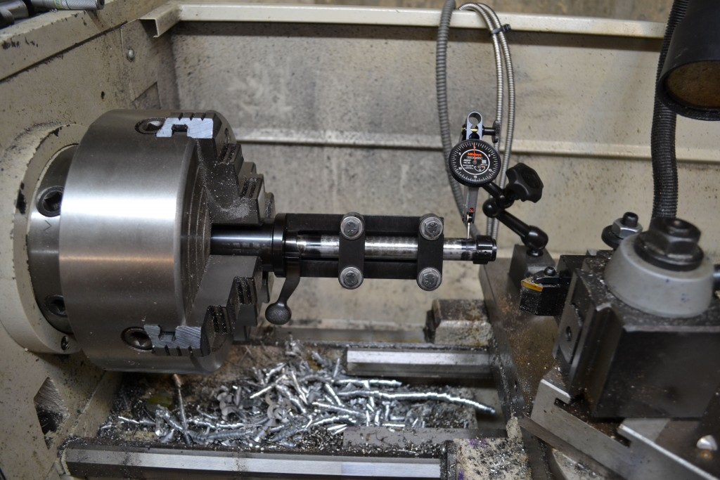 dialing bolt on lathe
