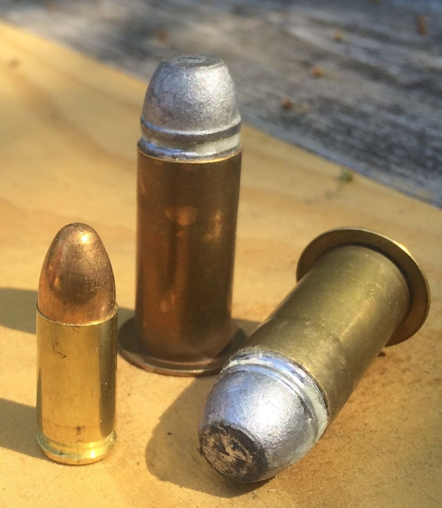 Maynard 52 caliber cartridges next to 9mm
