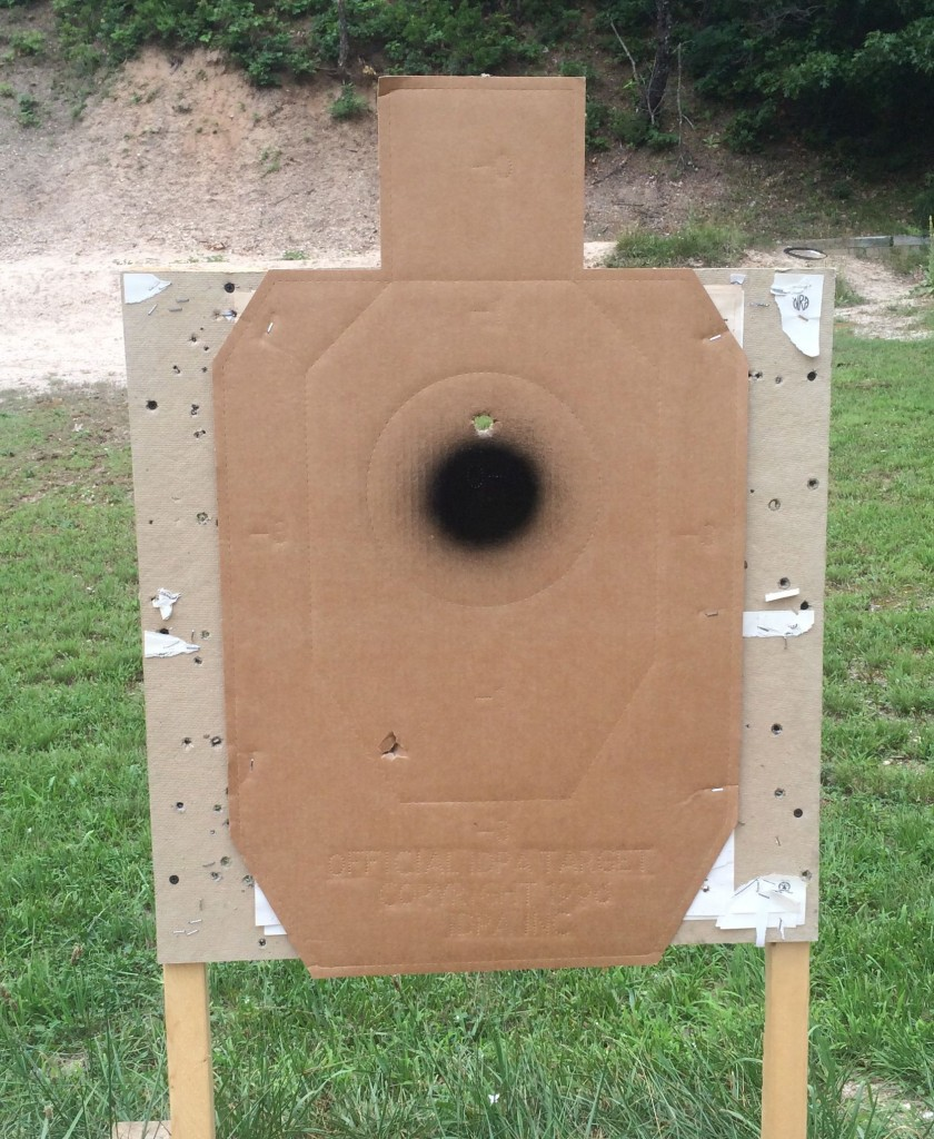 first shot at 25 yards