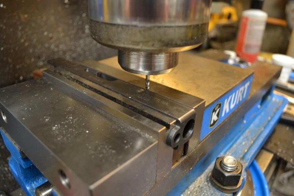 milling slide for cocking serrations
