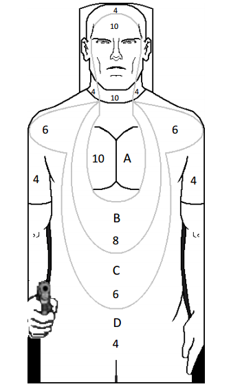 target with scoring areas