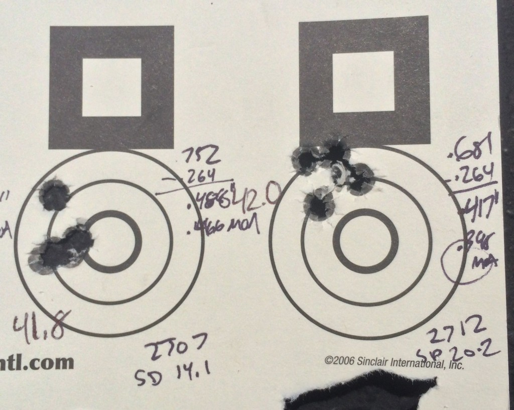 6.5 creedmoor 142 SMK H4350 41.8 and 42 grains