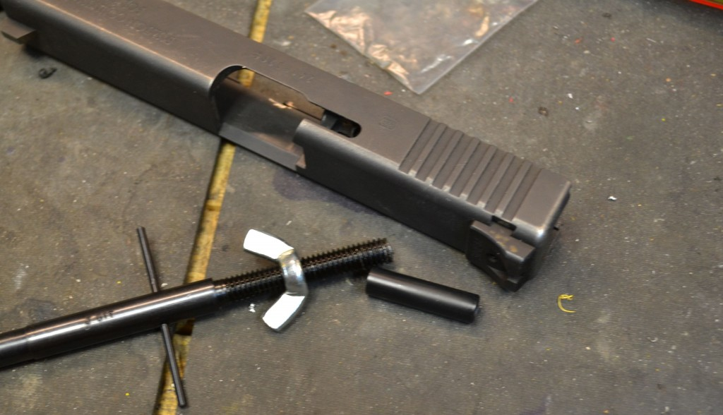 glock firing pin channel tool with slide