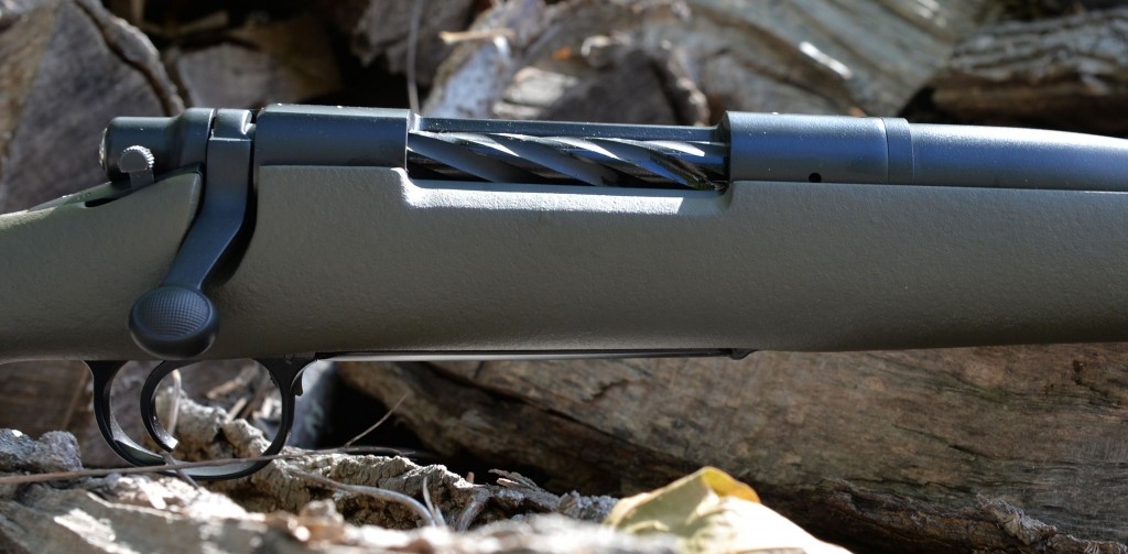 custom 700 hunting rifle close up rght side action
