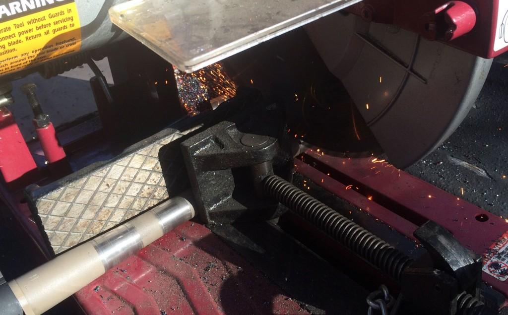 barrel cut on cold saw