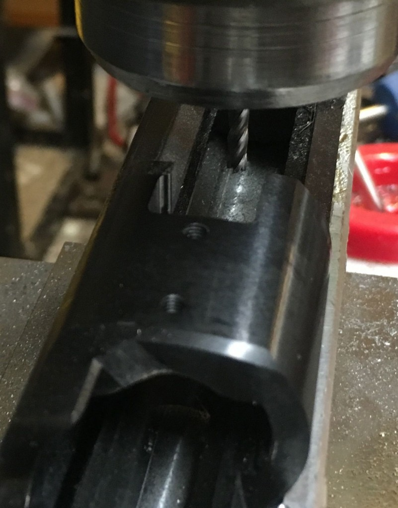 cleaning up lug slot corners USMC M40A3 build