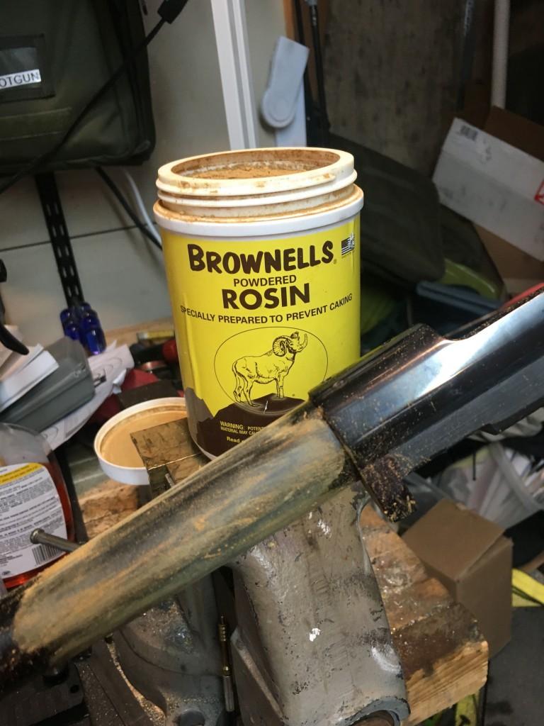 rosin on barrel