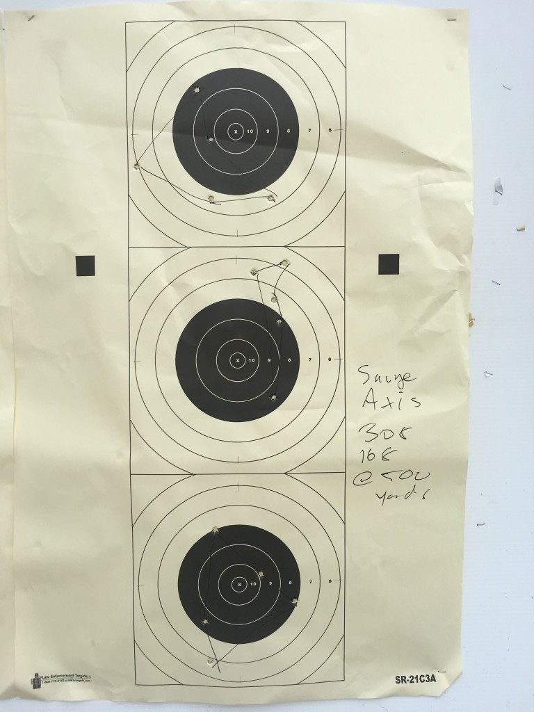 Savage axis groups 308 at 500 yards