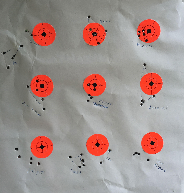 MVP 556 target at range