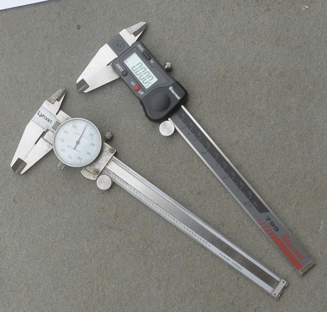 measuring group size calipers